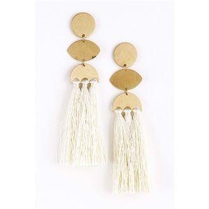 Jewelry - Geometric Tassel Earrings